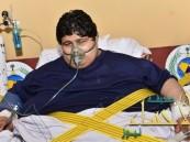 """وصول مريض السمنة """" خالد شاعري """" إلى الرياض"""