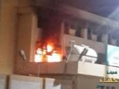 مجهولون يحرقون مدرسة العوامية الثانوية