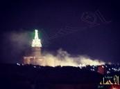 بالفيديو والصور … حريق في توسعة المسجد الحرام والدفاع المدني يطمئن