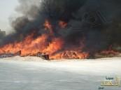 """بالصور… حريق يلتهم """"مخلفات"""" وأهالي الرقيقة يناشدون…"""