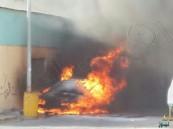 حريق يلتهم سيارة وأجزاء من منجرة بـ '' عين موسى ''