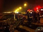 بالصور .. وفاة وأصابة (4) في حادث بمحاسن الأحساء