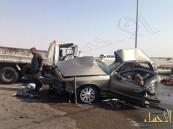 بالصور.. وفاة مواطن وإصابة أكثر من إثنين في حادث بالأحساء ..!!