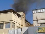 بالصور… الدفاع المدني يسيطر على حريق بمنزل بحي الثليثية
