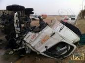 بالصور… حادث وانقلاب من العيار الثقيل يسفر عن وفاة و3 إصابات حرجة