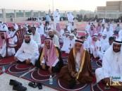 أهالي المراح يؤدون صلاة عيد الفطر المبارك