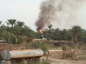 بالفيديو … حريق متصاعد  في مزارع الجليجلة