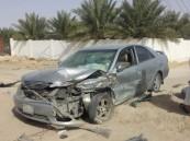 بالصور .. حادث مروع يُوقع سبعةُ مصابين على طريق جليجلة الجرن بالأحساء