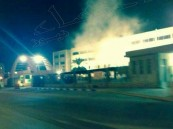 """بالصور الحصرية … شجاعة رجال أمن تنقذ مبنى تعليم الأحساء من حريق """"فادح"""""""