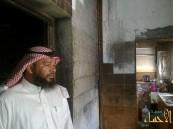 الصويلح ينقذ أسرته من موت محقق ويلوم مدني العمران