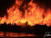 بالصور … حريق هائل بالرقيقة والمدني ينقذ الموقف