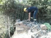 إنقاذ إثيوبيّ سقط داخل بئر بعمق 10 أمتار في بللحمر