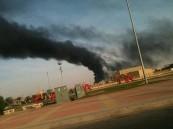 قبل قليل.. حريق كبير في متوسطة بنات في بقيق (صور)