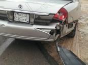 حادث تصادم  قياسي ل ١١ سيارة في الأحساء