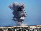 بالصور.. فلسطينيون يحولون دخان الغارات للوحات فنية