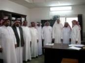 شرطة ومحكمة الجفر يقيمان حفل معايدة لمنسوبيهم