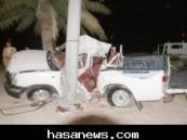 وفاة وإصابة ثلاثة في حادث مروري مروع على الطريق الدائري بالهفوف مساء اليوم .