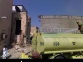 نشوب حريق في منزل مهجور بحي النعاثل القديم في الهفوف دون إصابات  .