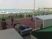 بحضور جمهور غفير اكتضت به مدرجات الملعب  :  يهجر يفوز في ديربي الأحساء .