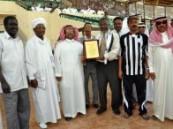 الرابطة الرياضية السودانية بالأحساء تقدم درعاً وتهنئ الهجراويين بصعودهم إلى دوري زين السعودي للمحترفين  .