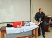 الإصابات الرياضية في ورشة عمل  بجامعة الدمام .