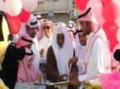 حضره عدد  كبير  من سكان الأحياء المجاورة : أهالي حي الصالحية يحتفلون بعيد الفطر المبارك 