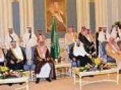 خادم الحرمين الشريفين يستقبل العلماء والأمراء والمشايخ وكبار المسؤولين