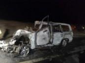 وفاة عائلة مكونة من أربعه أشخاص في حادث تصادم  بين  سيارتهم وشاحنة