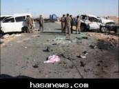 وفاة ( 12 ) طالبة جامعية في حادث مروري مأساوي بحائل صباح اليوم (  صور  ) .
