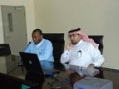 إنفلونزا الخنازير في محاضرة بالمعهد المهني الصناعي الثاني بالأحساء .