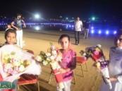 فعاليات مهرجان واحة الخير ( فرحة حسانا ) تتواصل وحضور مميز للمسرح المائي .