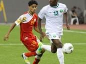 الأخضر الشاب يتعادل أمام عمان خليجيا