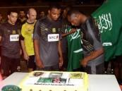 الأتحاد يحتفل باليوم الوطني بمشاركة الإدارة واللاعبين قبل أنهاء استعدادة للوحدة