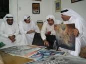 """ملتقى عبد الرحمن السليمان """" الاربعائية """" يحتفي بالفنان عبد الحميد البقشي ويستعرض اعماله ."""