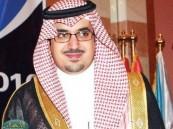 سمو الرئيس العام لرعاية الشباب يهنئ رئيس الاتحاد السعودي للقدم .