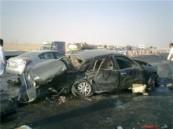 إصابة 3 أشخاص في حادث مروري مروع على طريق الإحساء الظهران ( يوجد صور ) .