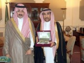 الأمير بدر آل جلوي يستقبل الوحيمد ويشيد بكتابه الأحساء أصالة وعطاء