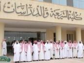 ادارة كلية الشريعة في زيارة تفقدية أخيرة للمبنى الجديد