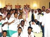 الأمير نواف بن فيصل يكرم منتخب الأولمبياد الخاص ويستقبل نادي الأحساء لذوي الاحتياجات الخاصة