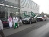 الرحالة المحيميد ينطلق من جمعية المعاقين بالأحساء إلى دولة قطر الشقيقة مشياً على الأقدام .