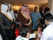 محافظ الإحساء دشن حملة تطعيم طلاب وطالبات المدارس لأنفلونزا  ( H1N1 )