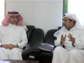 عضو الشرف الفتحاوي الأستاذ عبدالمنعم الراشد يجتمع بإدارة نادي الفتح