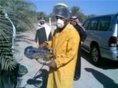الجهاز نال اهتمام وزير الزراعة : مخترع سعودي يزور مركز الأبحاث بالأحساء و يعرض اختراعه الجديد لقص السعف والكرب   .