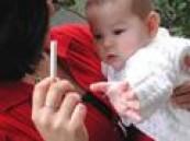 التدخين السلبي ينفخ رئة الأطفال .