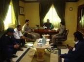 إجتماع تنسيقي بين الدفاع المدني والهلال الأحمر بالأحساء .