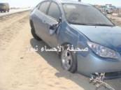 نجاة عشريني من موت محقق بعد انقلاب سيارته عند كوبري مدينة العيون  ( مرفق صور حصرية )