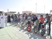 فعاليات لليوم المفتوح بمدرسة القارة الثانو ية (اليوم الثاني) لسباق الدراجات .