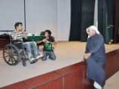جمعية المعاقين بالأحساء وفرقة سما الشرقية يستعدان لمسرحية ( حامض حلو ) .