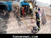 أكدت ذلك مصادر ( الأحساء نيوز ) قبل قليل : إنحراف كابينة القيادة لقطار ركاب على بعد (  80 كم )  من الرياض في إتجاه الأحساء وإصابة قائد القطار ومساعده  ( صور )