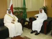 مدير جامعة الدمام يستقبل سفير السعودية  في البحرين .